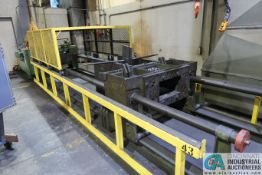 """4' X 15' WILLIAMS AND WHITE TRAVELING HEAD STRAIGHTENING PRESS; S/N N/A, 25 HP ELECTRIC MOTOR, 18'6"""""""