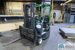 6,000 LB. COMBI MODEL C6000CB LP GAS TWO-STAGE 4-WAY LIFT TRUCK; S/N 20894, 6,180 HOURS SHOWING,