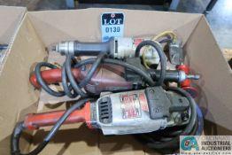 "9"" MILWAUKEE ELECTRIC HEAVY DUTY ANGLE SANDER WITH (2) MILWAUKEE STRAIGHT SHAFT GRINDERS"