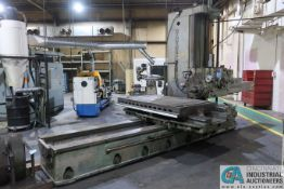 """GIDDINGS AND LEWIS MODEL 350T HORIZONTAL BORING MILL; S/N 150-90-65, 4' X 7' TABLE WITH (2) 24"""" FACE"""
