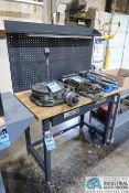 """24"""" X 48"""" X 37-1/2"""" HIGH STEEL FRAME MAPLE TOP WORKBENCH **DELAY REMOVAL**"""