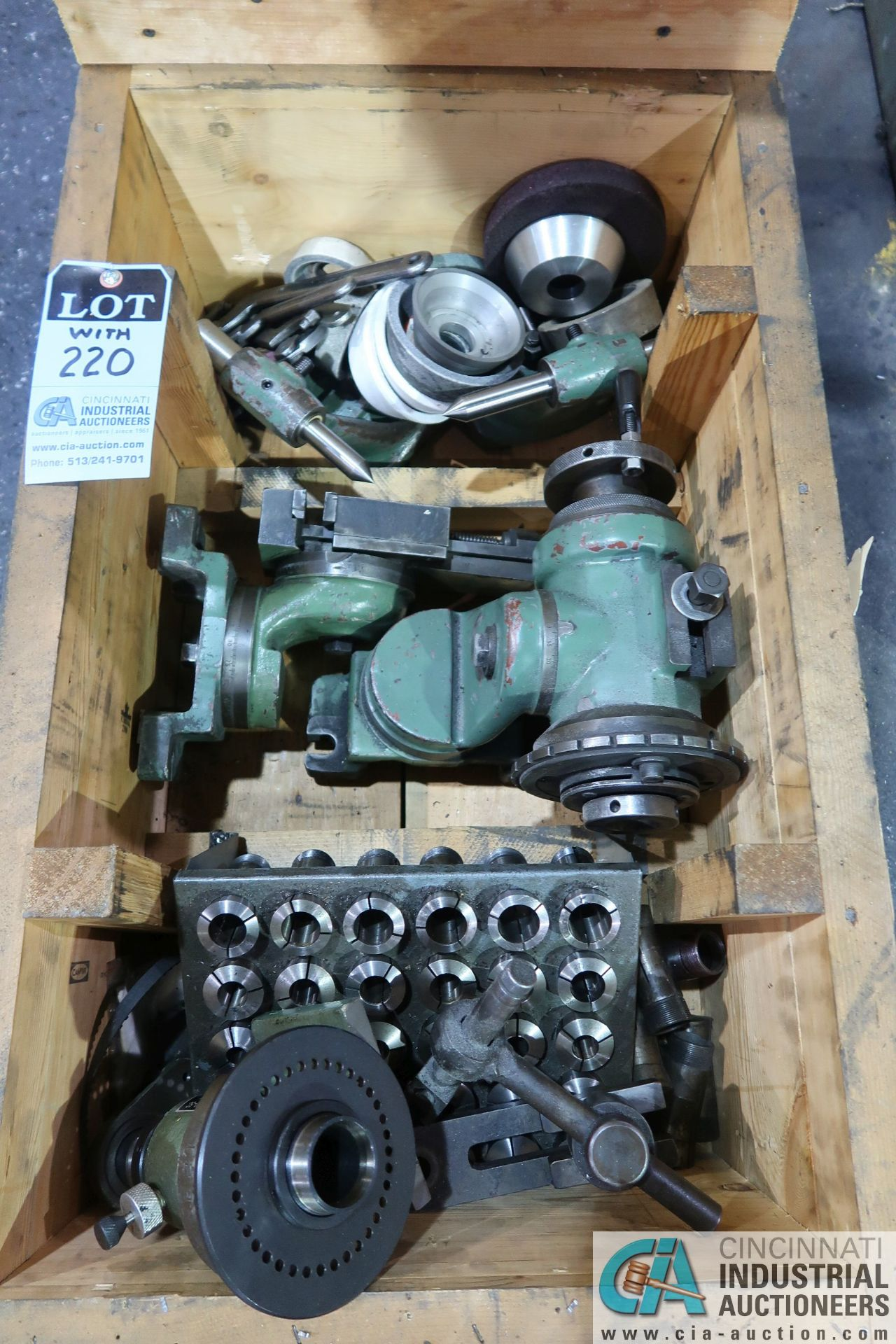 CINCINNATI TYPE MT TOOL GRINDER; S/N 1D2F1ABF-15, WITH (1) WOOD CRATE MISCELLANEOUS FIXTURES (NEW - Image 11 of 11