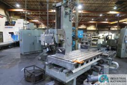 LUCAS MODEL 30-DCP76 CNC HORIZONTAL BORING MILL; S/N 30DC0510, 5' X 7' TABLE, DYNAPATH 50 CONTROL
