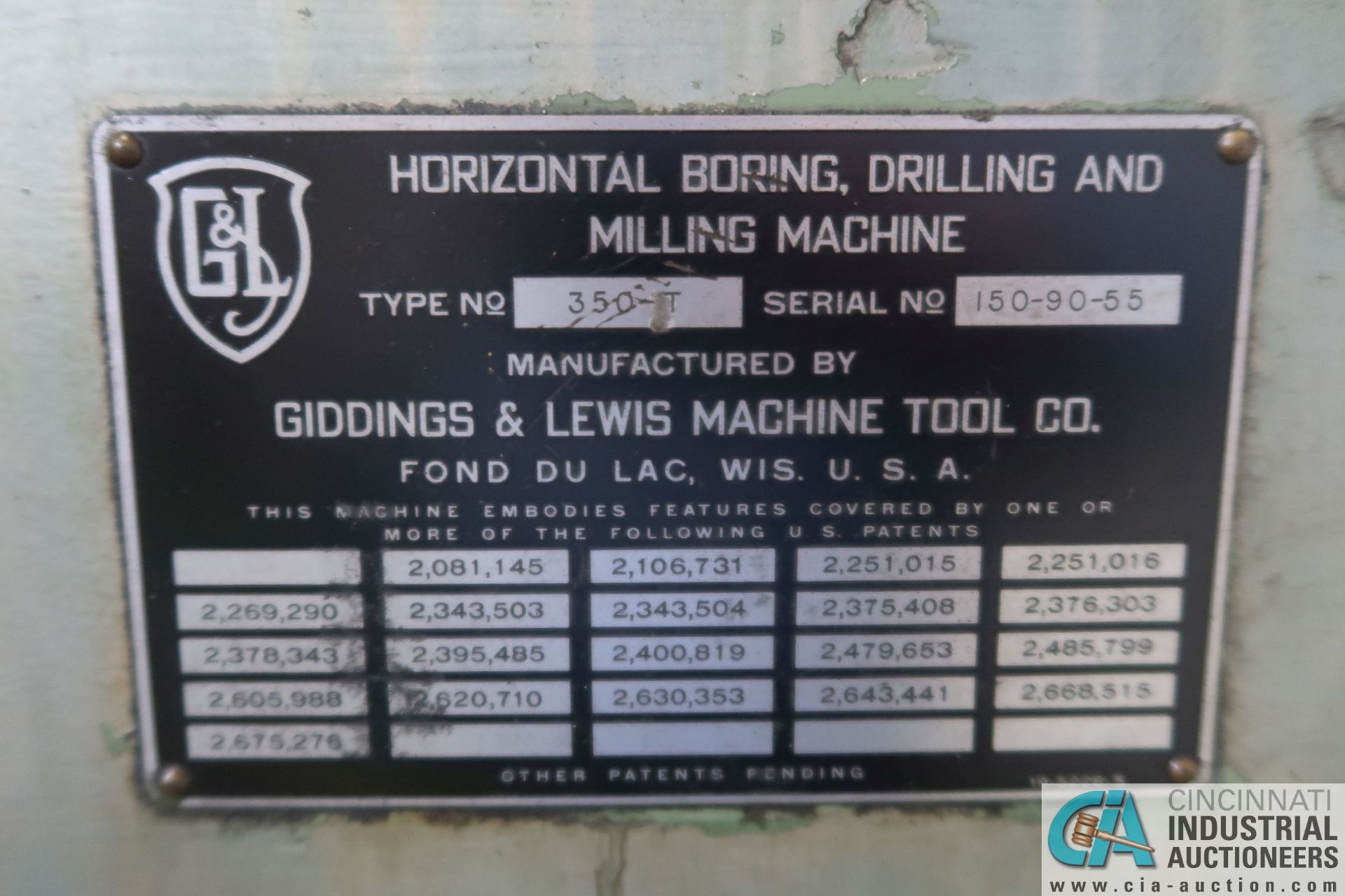 """GIDDINGS AND LEWIS MODEL 350T HORIZONTAL BORING MILL; S/N 150-90-65, 4' X 7' TABLE WITH (2) 24"""" FACE - Image 5 of 16"""