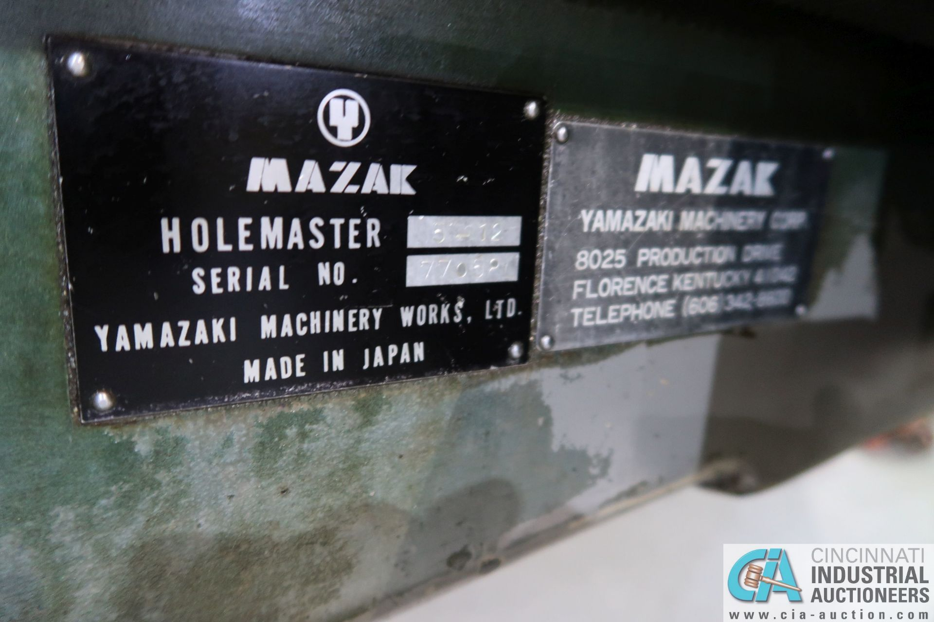 """5' ARM X 11"""" COLUMN MAZAK MODEL HOLE-MASTER 512 RADIAL ARM DRILL; S/N 77058L, WITH 20"""" X 24"""" X 16"""" - Image 5 of 12"""