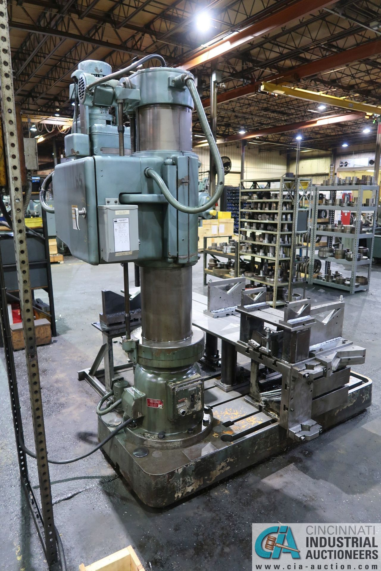 """5' ARM X 11"""" COLUMN MAZAK MODEL HOLE-MASTER 512 RADIAL ARM DRILL; S/N 77058L, WITH 20"""" X 24"""" X 16"""" - Image 4 of 12"""