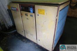 60 HP KAESER MODEL BS60 ROTARY SCREW AIR COMPRESSOR; S/N 501-4-58 (NEW 1985), 88,528 LOAD HOURS,