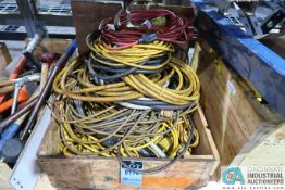 WOOD CRATE ELECTRIC CORDS