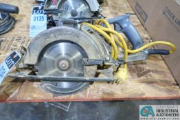 "7-1/4"" SKIL MODEL HD77 WORM DRIVE CIRCULAR SAW"