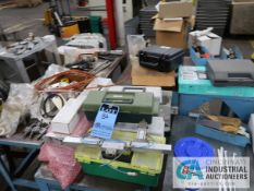 CONTENTS OF MISCELLANEOUS TABLES INCLUDING HYDRAULIC FILTERS, HIGH TEMP WIRE, HEAT CONTROLLER