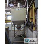 60 CU. FT. IMCS MODEL 35-5432 SURGE BIN; S/N 13479, WITH VACCUM FEEDER, EXTRA LEGS, VACUUM BOX