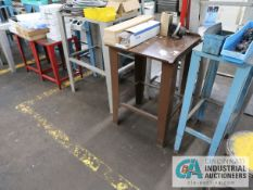 (LOT) (18) MISCELLANEOUS STEEL TABLES