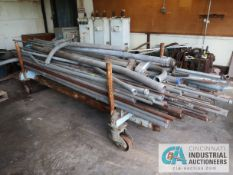 (LOT) MISCELLANEOUS STEEL PIPES WITH CART