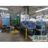 CUSTOM ASSEMBLY LINE WITH ROLLER CONVEYORS, TIPPERS, HOPPERS AND TURN TABLE
