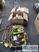 (LOT) MISCELLANEOUS ELECTRICAL CORDS AND PARTS