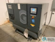 30 HP ATLAS COPCO MODEL GA22FF-A-125FM AIR COMPRESSOR WITH BUILT IN DRYER; S/N WUX585363, 18,574 RUN