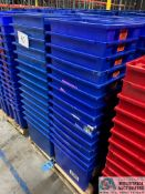 GLOBAL MODEL 274315 STACK AND NEST PLASTIC TOTES - (1) SKID