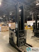 4,500 LB. CROWN MODEL RR5825-45 STAND UP ELECTRIC REACH TRUCK; S/N 1A311614, APPROX. 2,015 HOURS