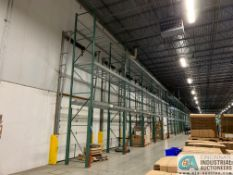 "SECTIONS 48"" X 24' HIGH TEAR-DROP STYLE ADJUSTABLE BEAM WIRE DECKING PALLET RACK, (6) CROSSMEMBER"