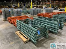 "FREE-STANDING SECTIONS 30"" X 72"" X 72"" HIGH ADJUSTABLE BEAM WIRE DECK PALLET RACK CONSISTING OF"