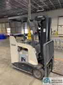 3,500 LB. CROWN MODEL RC5535-35 STAND UP ELECTRIC LIFT TRUCK; S/N A1348207, APPROX. 6,222 HOURS