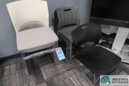 STEEL FRAME PLASTIC SEAT STACK CHAIRS