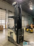 4,500 LB. CROWN MODEL RR5725-45 STAND UP ELECTRIC REACH TRUCK; S/N 1A378777, APPROX. 1,356 HOURS,