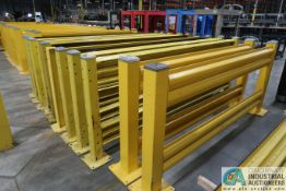 "(LOT) GUARD RITE YELLOW DUAL RAIL SAFETY GUARD RAIL CONSISTING OF; (9) 10' WIDE X 45"" HIGH, (20)"