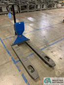 5,500 LB. CAPACITY GLOBAL TYPE B HAND HYDRAULIC PALLET TRUCK WITH METTLER-TOLEDO DRO SCALE