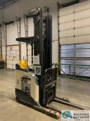 4,500 LB. CROWN MODEL RR5825-45 STAND UP ELECTRIC REACH TRUCK; S/N 1A308781, APPROX. 2,229 HOURS