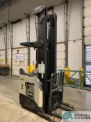 4,500 LB. CROWN MODEL RR5725-45 STAND UP ELECTRIC REACH TRUCK; S/N 1A378778, APPROX. 1,886 HOURS,