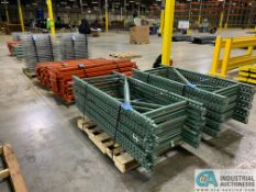 "FREE-STANDING SECTIONS 30"" X 72"" X 72"" HIGH ADJUSTABLE BEAM WIRE DECK PALLET RACK CONSISTING OF;"