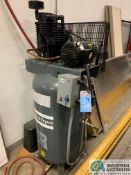 ATLAS 7.5 HP COPCO MODEL AR-7.5 VERTICAL TANK AIR COMPRESSOR; S/N HP950537, 3-PHASE
