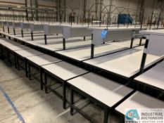 """33"""" X 83"""" X 29""""-36"""" HEIGHT DEHNCO MODEL D-9000 PACKAGING WORKSTATIONS WITH CARTONING RACK AND"""