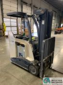 3,500 LB. CROWN MODEL RC5535-35 STAND UP ELECTRIC LIFT TRUCK; S/N 1A330921, APPROX. 6,389 HOURS