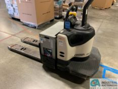 6,000 LB. CROWN MODEL PE-4500-60 RIDER TYPE ELECTRIC PALLET TRUCK; S/N 6A263462, APPROX. 3,513 HOURS