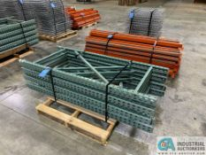 "SECTIONS 30"" X 72"" X 72"" HIGH FREE-STANDING ADJUSTABLE BEAM WIRE DECKING PALLET RACK CONSISTING OF;"