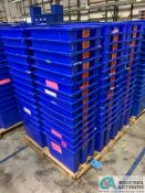 AKRO-MILS PRODUCT NO. 35-195 NEST AND STACK PLASTIC TOTES - (1) SKID