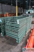 "SECTIONS 42"" X 96"" HIGH INTERLAKE TEAR DROP STYLE PALLET RACK UPRIGHTS"