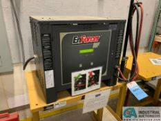 ENERSYS MODEL EH3-12-9000 ENFORCER HF BATTERY CHARGER WITH STAND **LOCATED IN AISLE BEHIND CHARGE