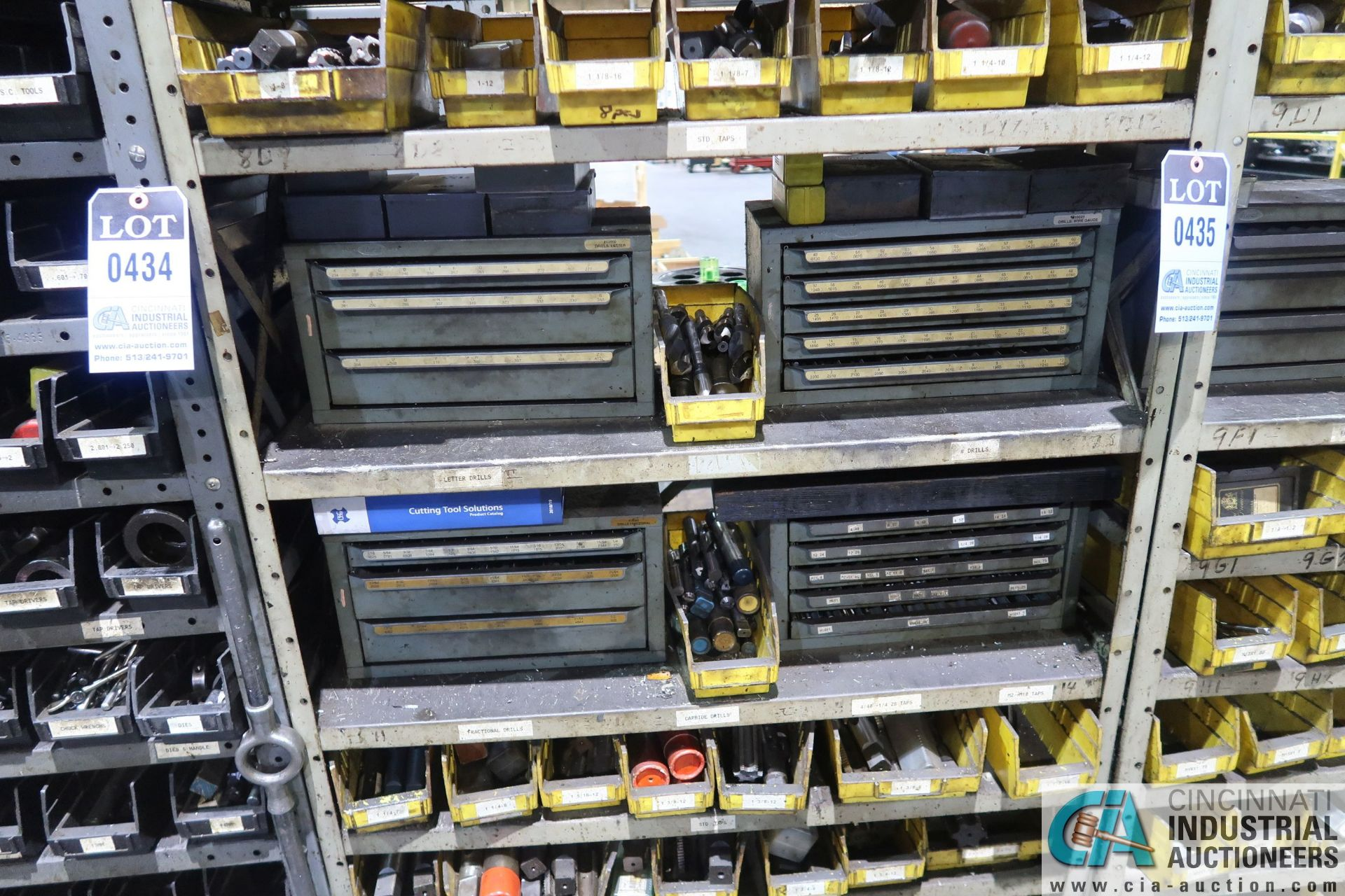 (LOT) HUGE ASSORTMENT TAPS AND DRILL INDEX CABINETS WITH SHELVING - Image 3 of 4