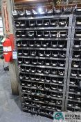 (LOT) HUGE ASSORTMENT MORSE TAPER DRILLS WITH SHELVING