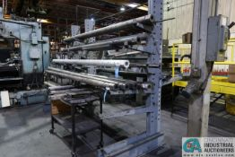 """SECTION 36"""" X 128"""" X 96"""" HIGH CANTILEVER RACK, (20) ARMS TOTAL"""