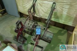 (LOT) (4) MISCELLANEOUS SIZE PIPE LIFTING FIXTURES
