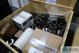 CRATE MISCELLANEOUS SOLID BORE HEADS **SEE LOT PHOTO FOR LISTING IN CRATE**