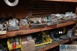 (LOT) MAINTENANCE ROOM CONTENTS; LARGE ASSORTMENT MACHINE PARTS, ELECTRICAL PARTS, O-RINGS AND