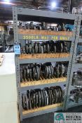 (LOT) MISCELLANEOUS NO-GO THREAD GAGES WITH SHELVING