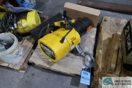 2 TON CAPACITY BUDGIT MAN-GUARD PENDENT CONTROL ELECTRIC CHAIN HOIST