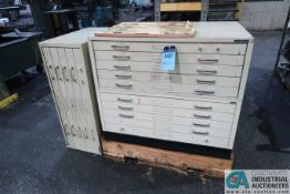 (LOT) NO-GO THREAD, RING GAGES AND MISCELLANEOUS MICROMETER STANDARDS WITH (3) FIVE-DRAWER CABINETS