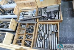 WOOD CRATE MISCELLANEOUS CHUCK JAWS, TOOLHOLDERS AND TOOLING
